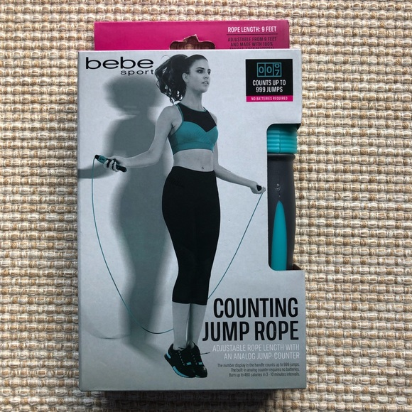 Bebe Sport Counting Jump Rope in Gray& Blue